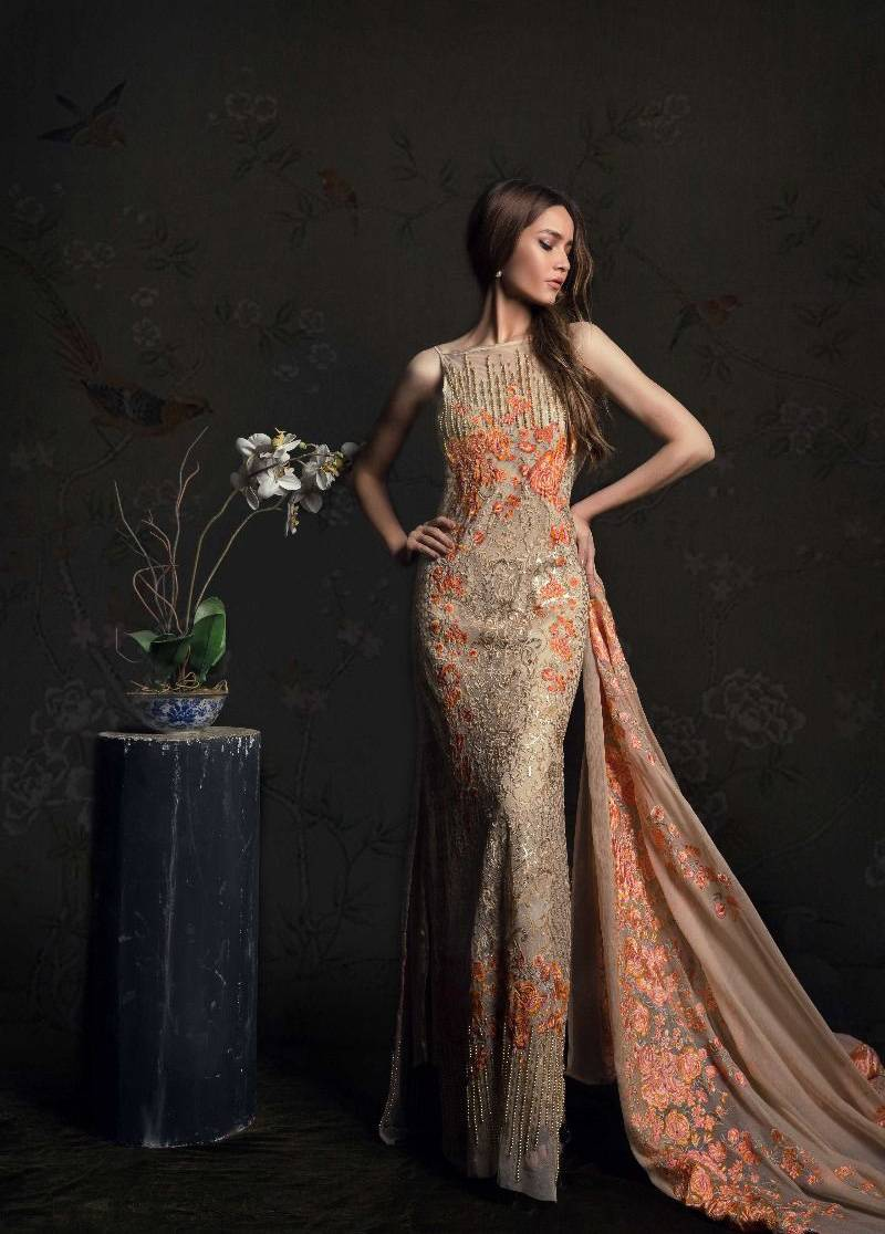 Sana Safinaz Embroidered Chiffon Unstitched 3 Piece Suit SS17L 1A