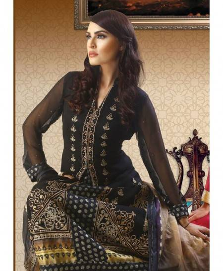 Strawberry Embroidered Chiffon Unstitched 3 Piece Suit STC 24A