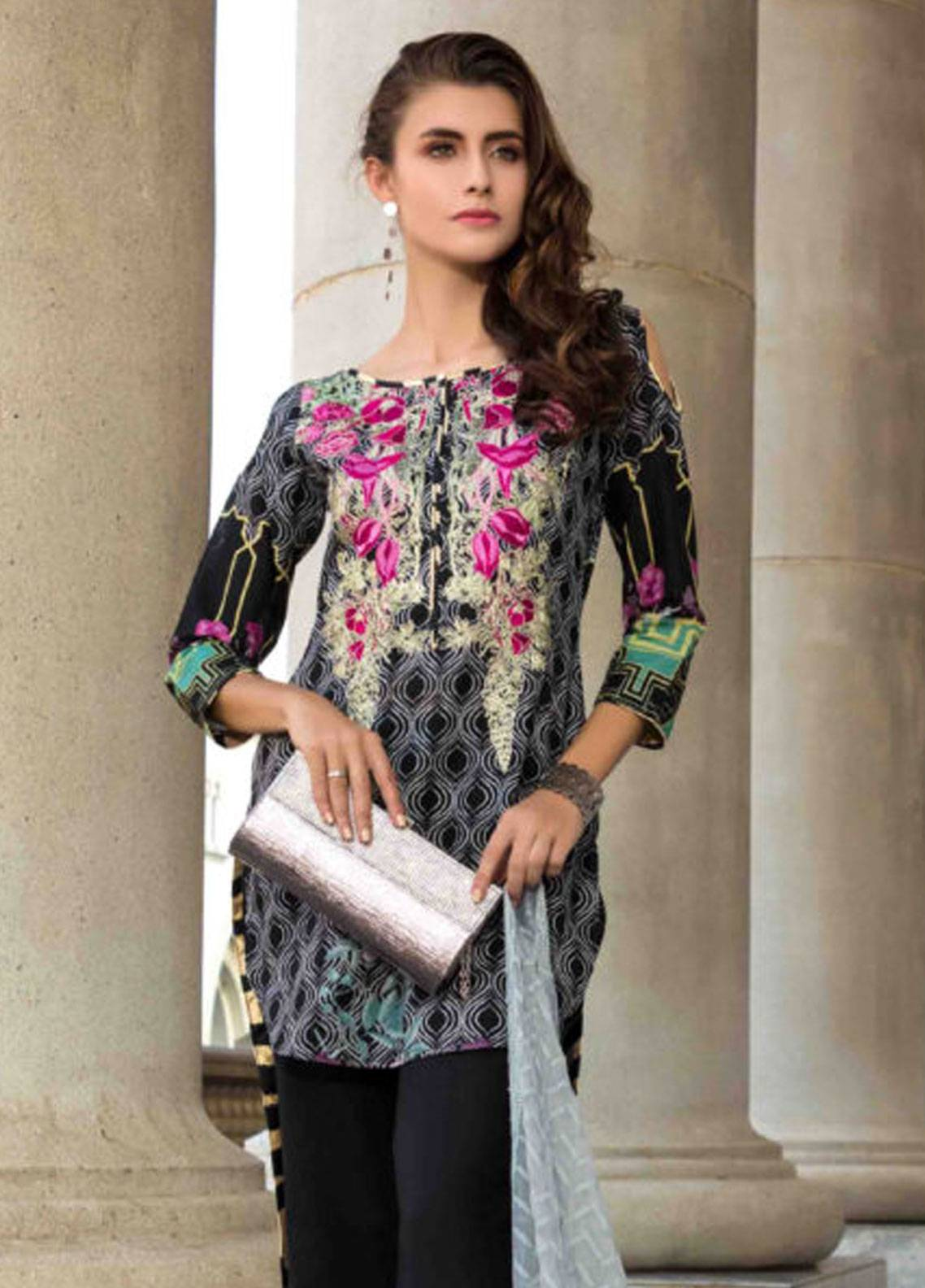 Subata by Regalia Embroidered Lawn Unstitched 3 Piece Suit SBR19L 3B - Spring / Summer Collection