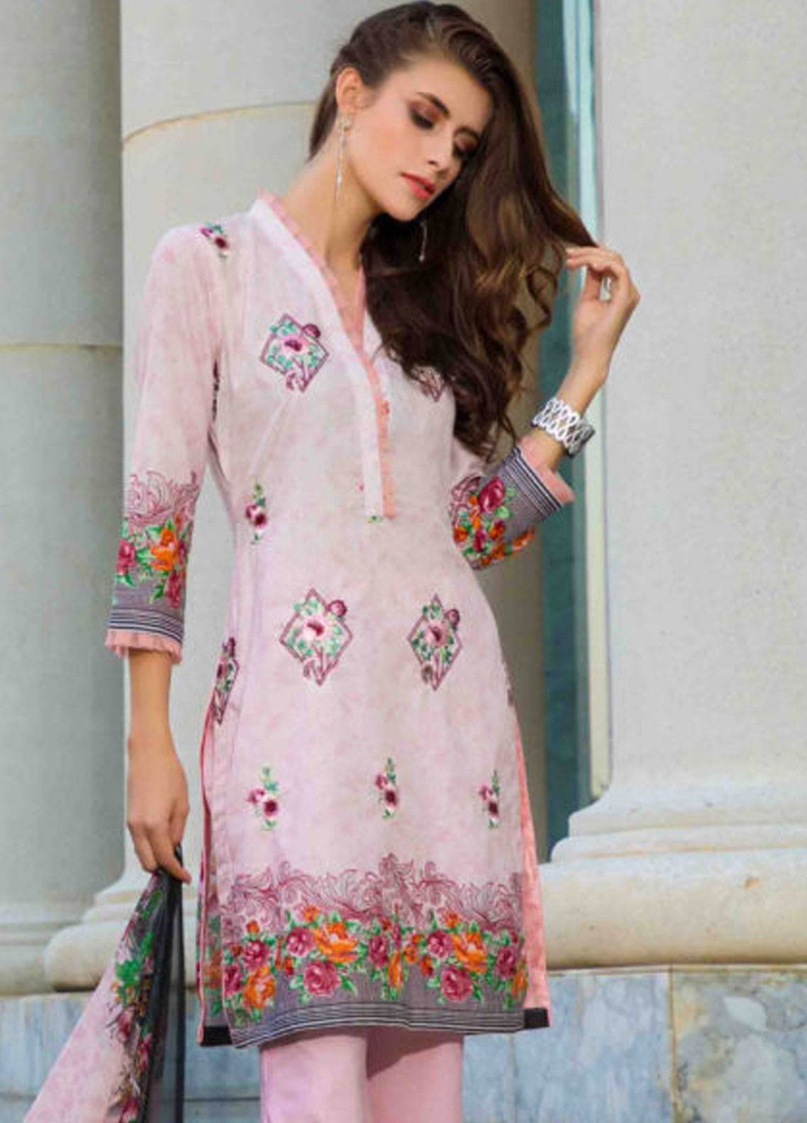 Subata by Regalia Embroidered Lawn Unstitched 3 Piece Suit SBR19L 4A - Spring / Summer Collection