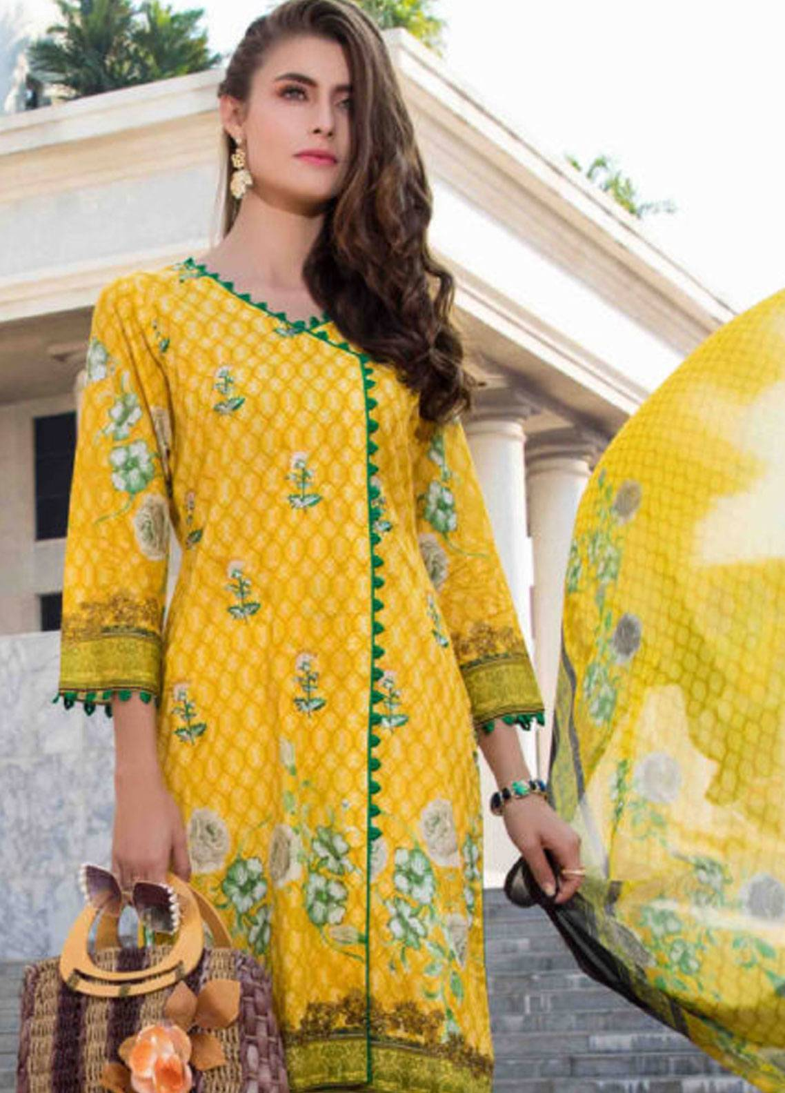 Subata by Regalia Embroidered Lawn Unstitched 3 Piece Suit SBR19L 5B - Spring / Summer Collection