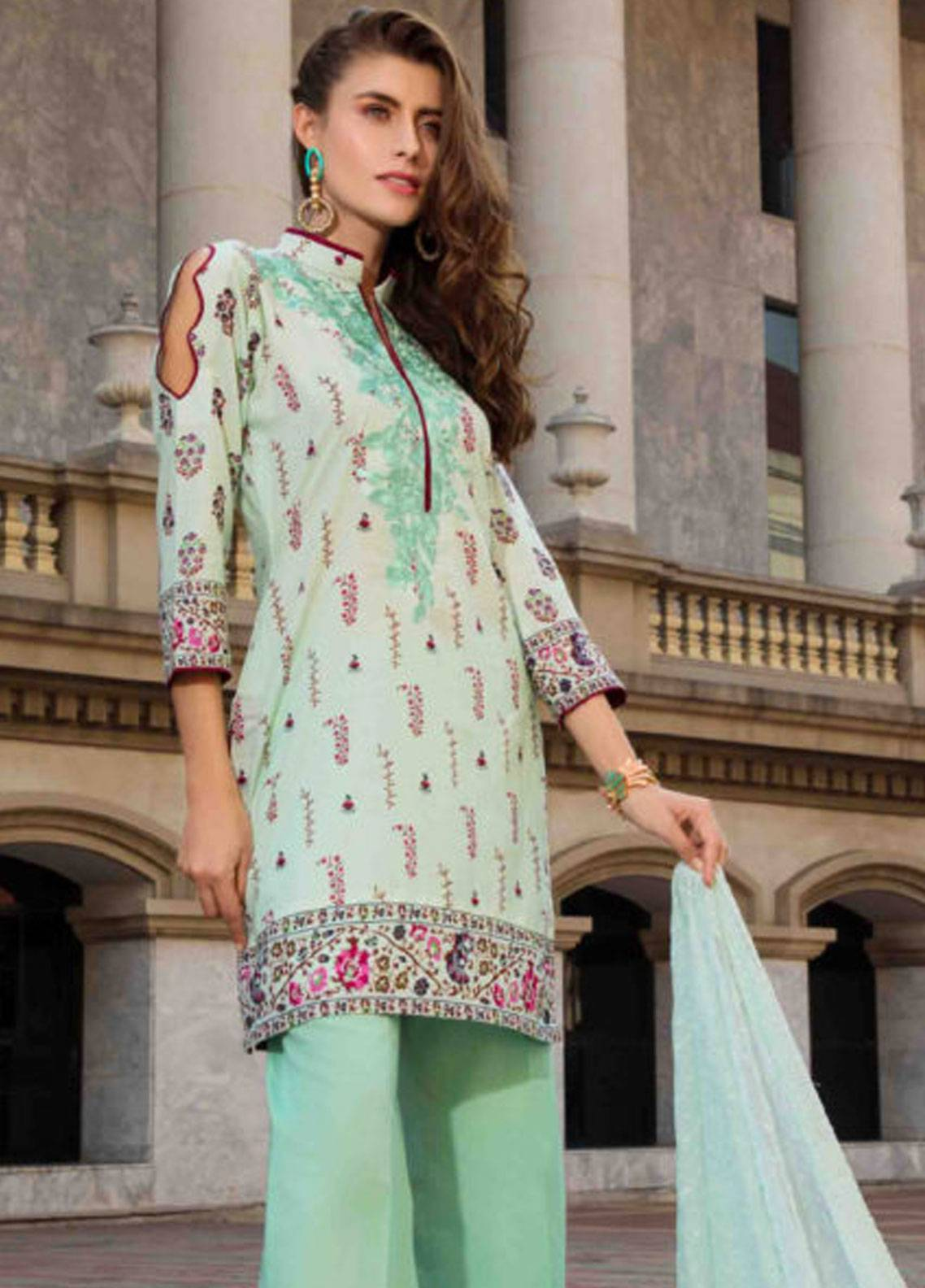 Subata by Regalia Embroidered Lawn Unstitched 3 Piece Suit SBR19L 6A - Spring / Summer Collection