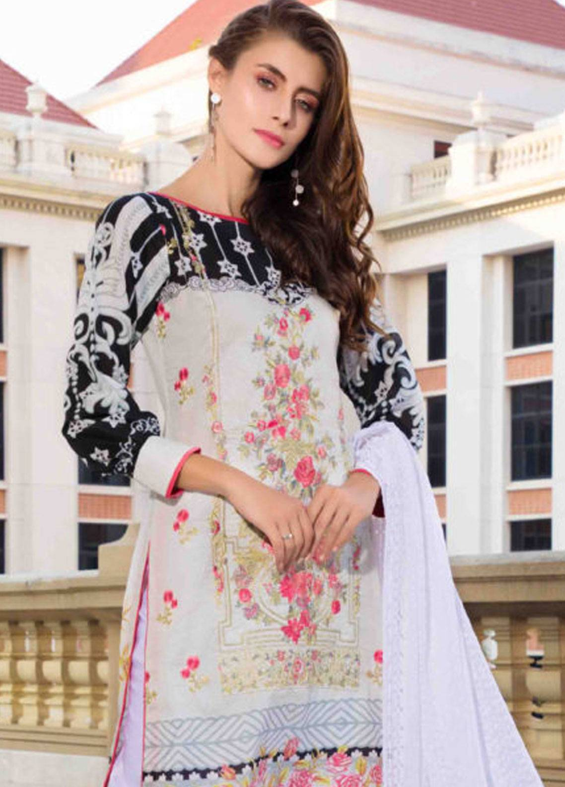 Subata by Regalia Embroidered Lawn Unstitched 3 Piece Suit SBR19L 7B - Spring / Summer Collection
