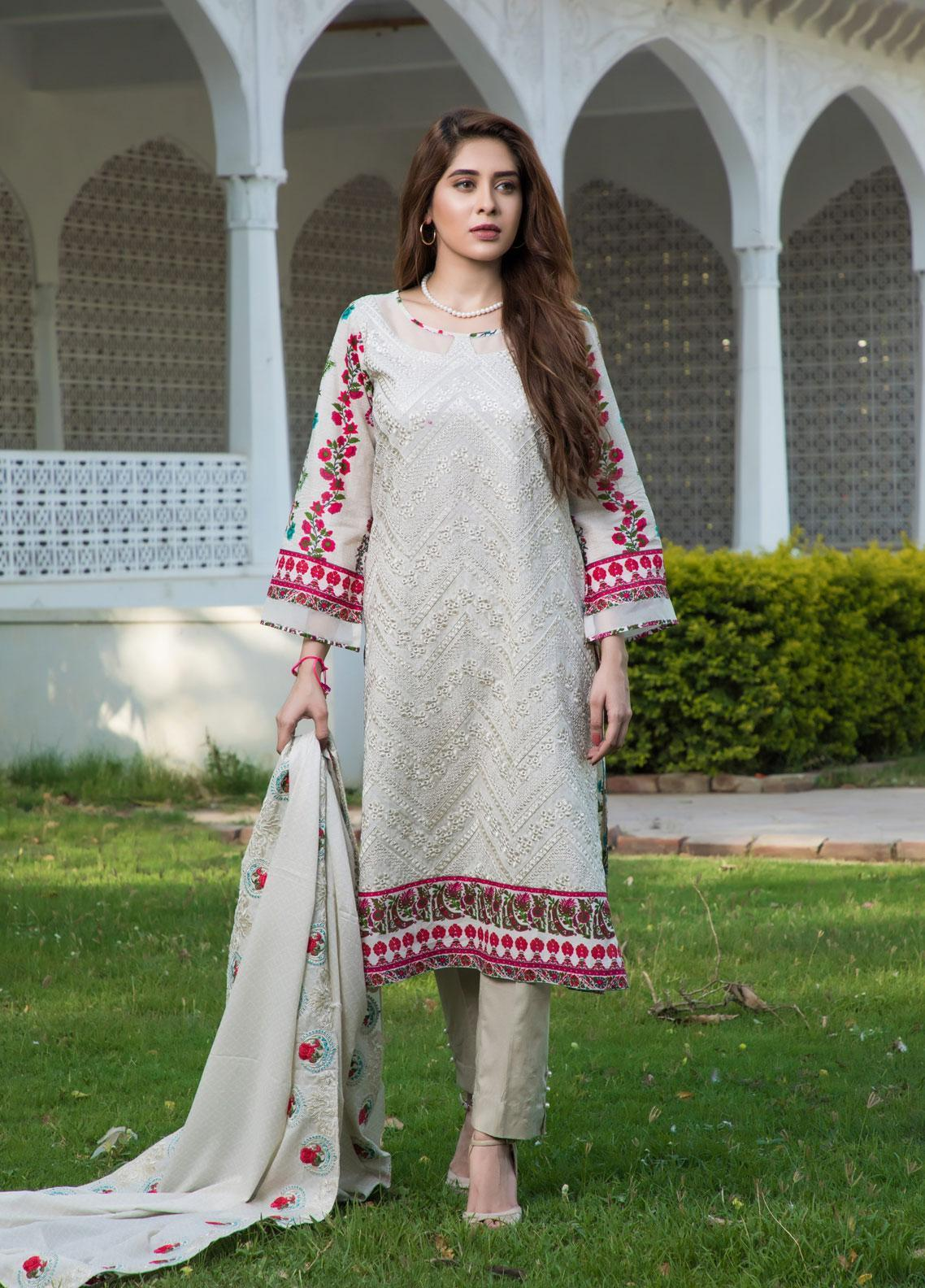 Subata by Regalia Textiles Embroidered Lawn Unstitched 3 Piece Suit SBR19F 1A - Festive Collection