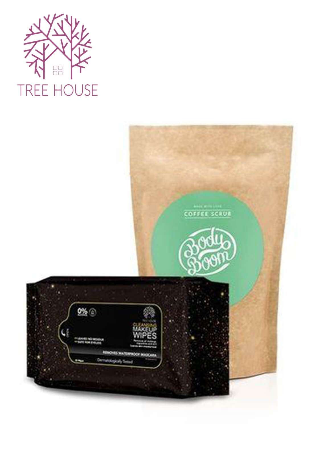 Coffee Scrub (Mint Flavour)+Cleansing Makeup Wipes (Promo Pack)