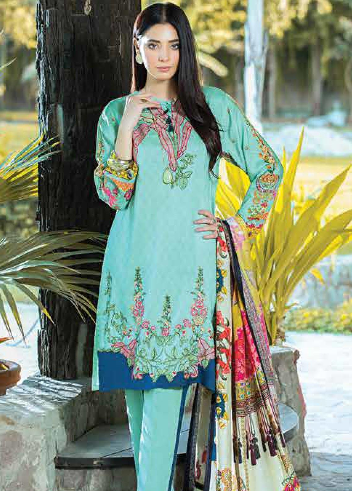 Takhleek By Hijab Omer Embroidered Linen Unstitched 3 Piece Suit TK19W 10A AKS - Winter Collection