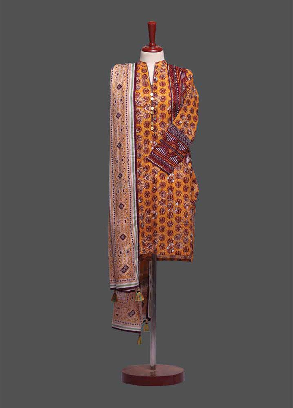 Tarzz Printed Lawn Unstitched 2 Piece Suit TZ19L 12A CHROME - Mid Summer Collection