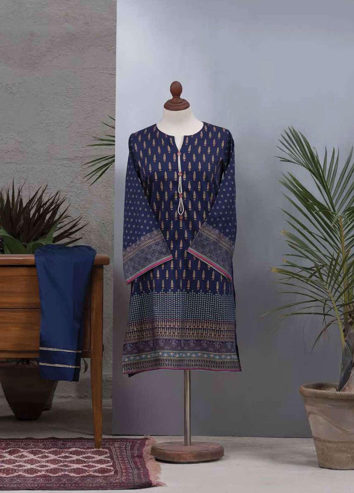 Tarzz Printed Cotton Satin Unstitched 2 Piece Suit TZ19L 26 EVE TRANCE - Spring / Summer Collection