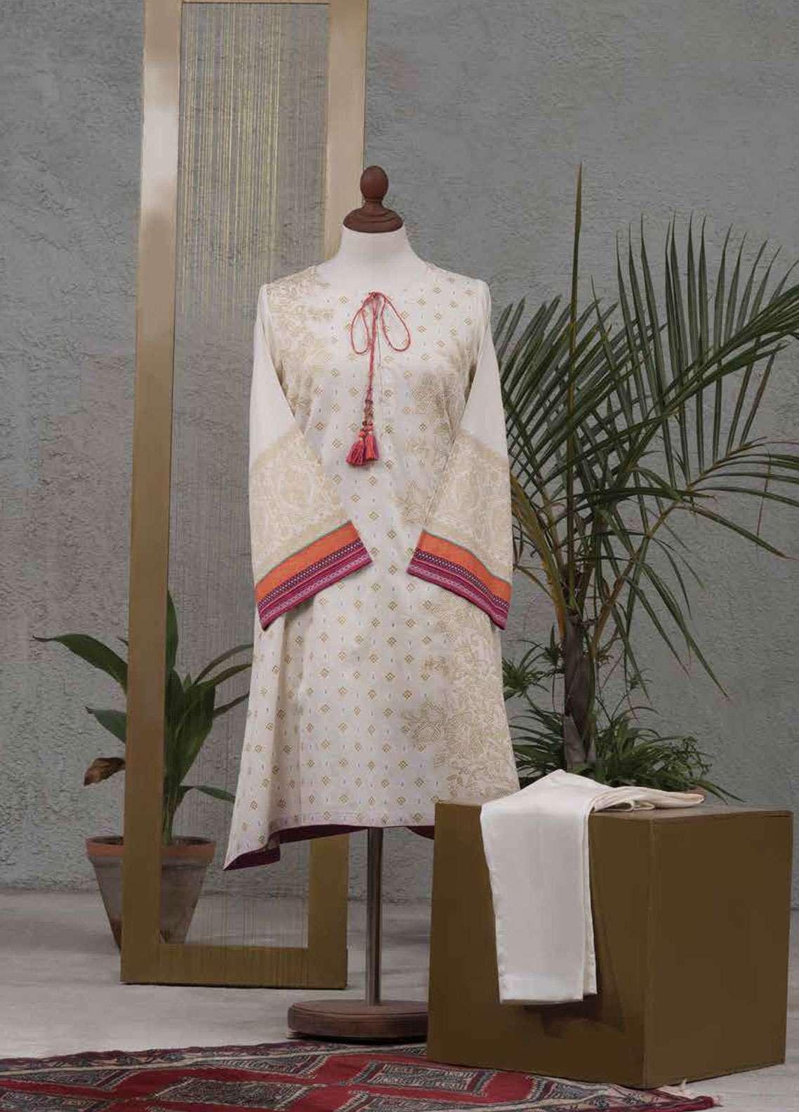 Tarzz Printed Cotton Satin Unstitched 2 Piece Suit TZ19L 27 CARNATION - Spring / Summer Collection