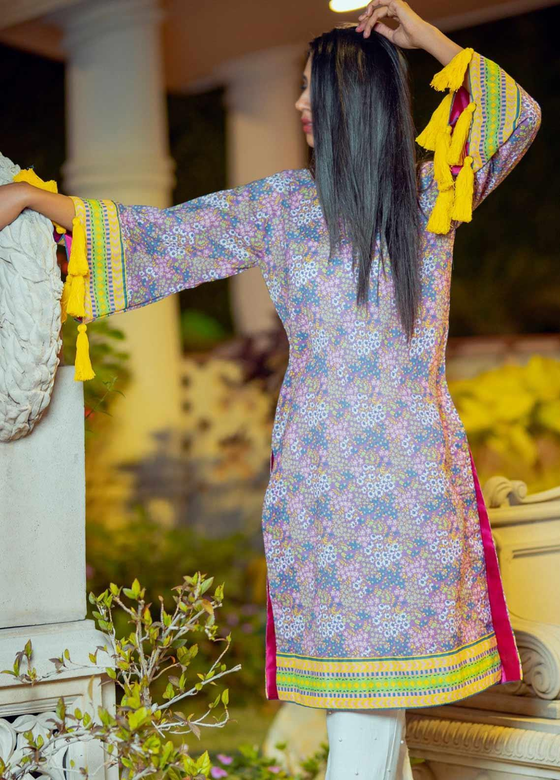 Tarzz Printed Lawn Unstitched Kurties TRZ20SL-2 L20-38 - Spring / Summer Collection