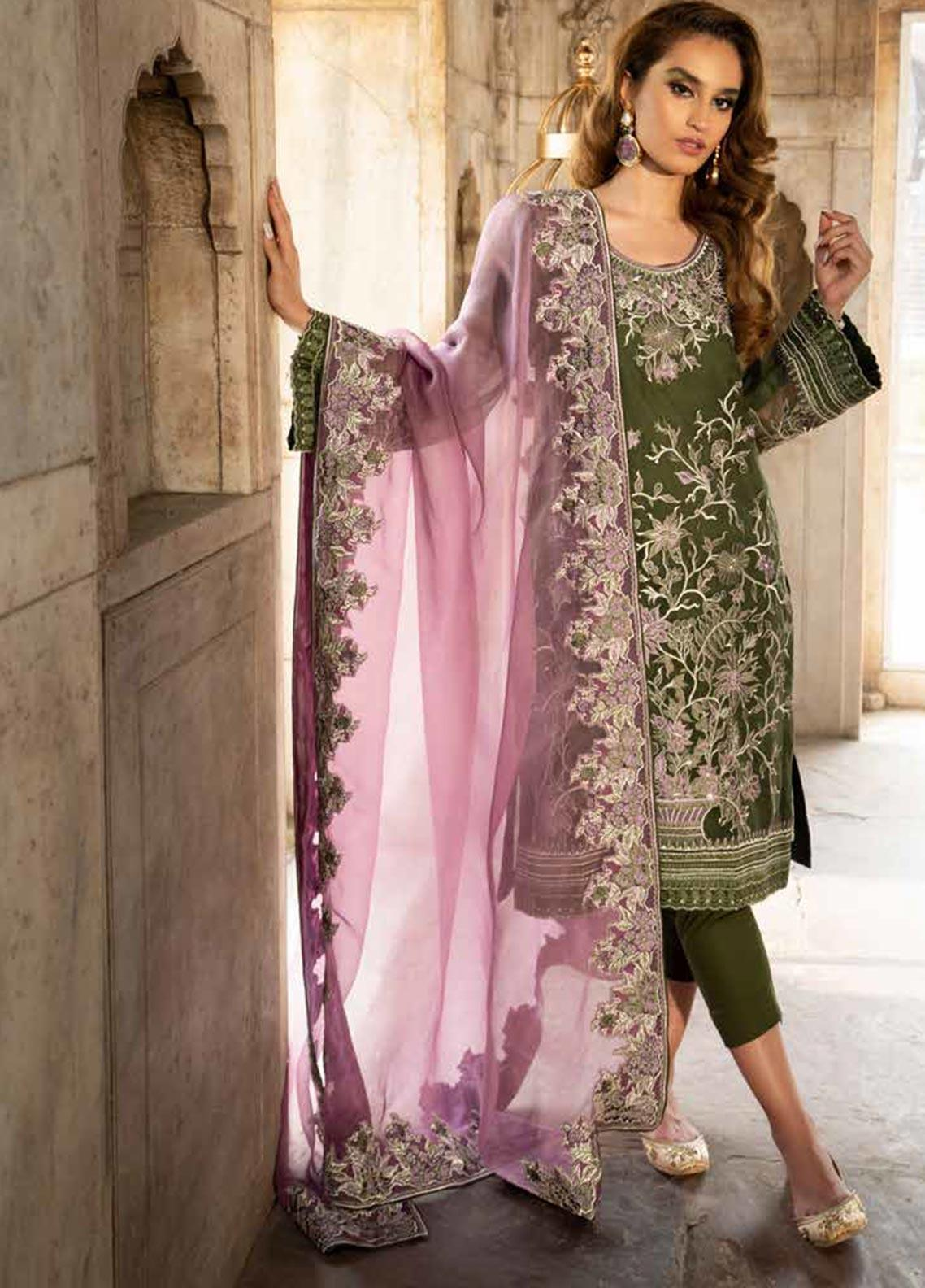 Tena Durrani Embroidered Organza Unstitched 3 Piece Suit TD19F 7 - Formal Collection
