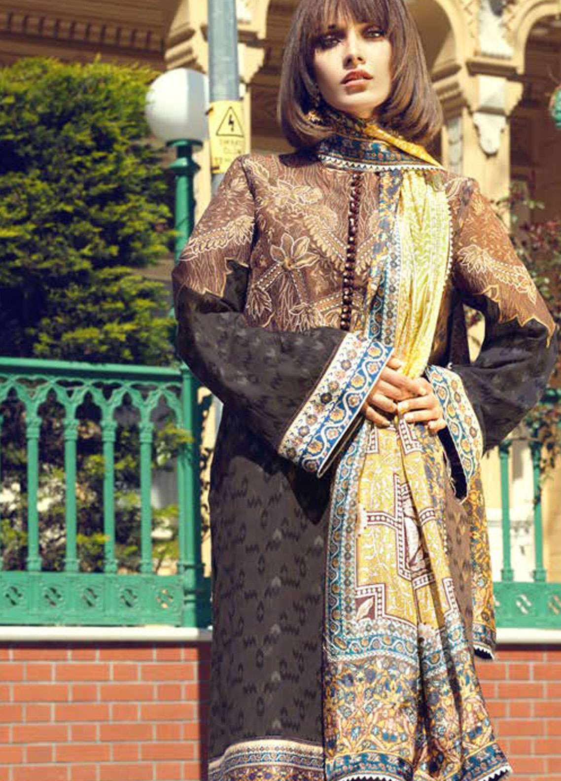 Tena Durrani Embroidered Lawn Unstitched 3 Piece Suit TD19L 6A MARJAN - Spring / Summer Collection