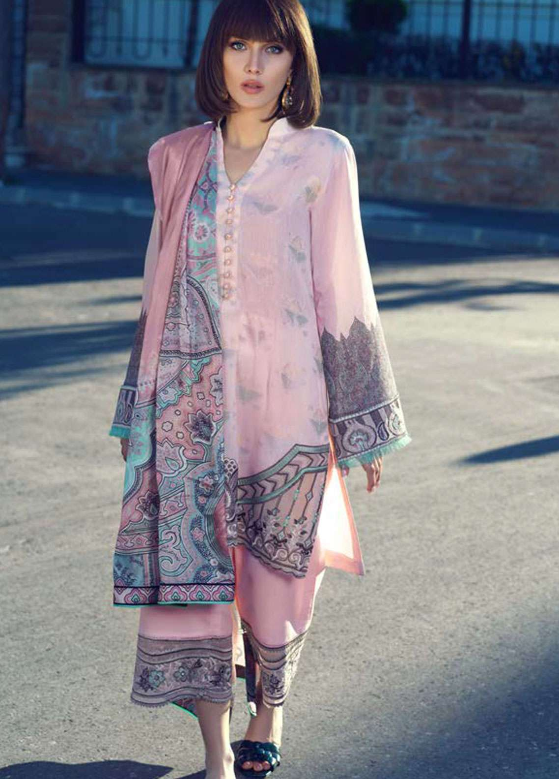 Tena Durrani Embroidered Jacquard Unstitched 3 Piece Suit TD19L 7B MATRESHKA - Spring / Summer Collection