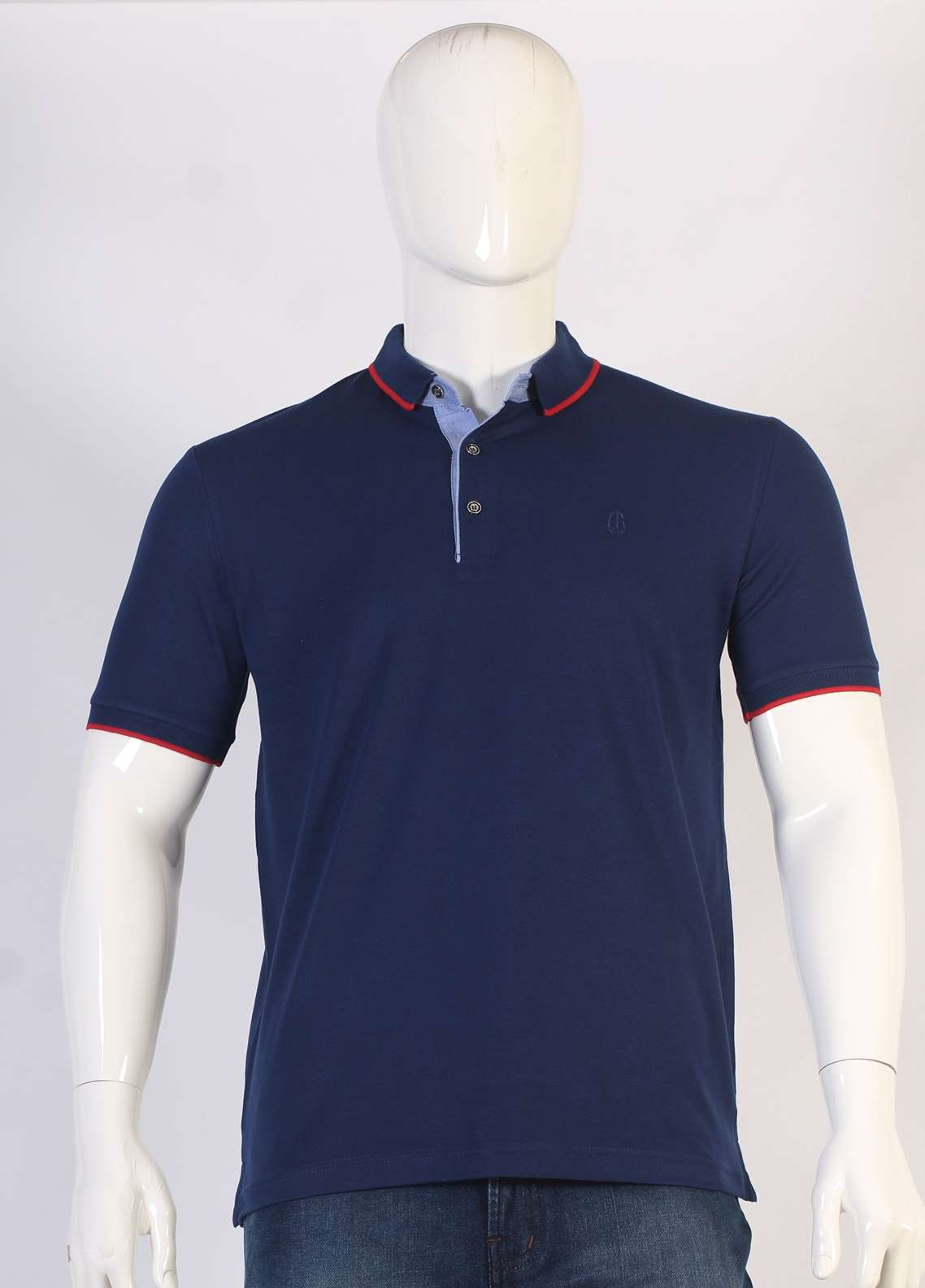 Sanaulla Exclusive Range Jersey Polo T-Shirts for Men - Navy Blue TKM18S 317-01