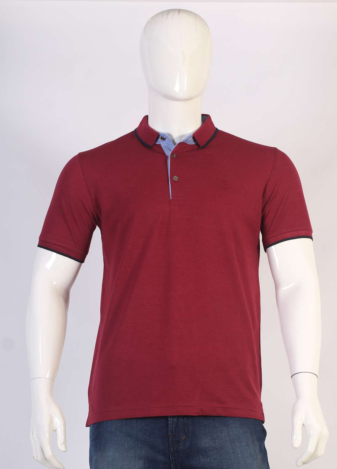 Sanaulla Exclusive Range Jersey Polo Men T-Shirts - Maroon TKM18S 317-05