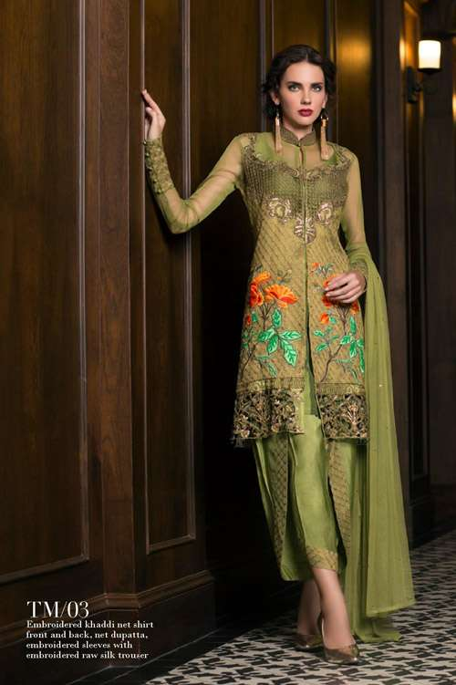 Tabassum Mughal Embroidered Chiffon Unstitched 3 Piece Suit TM17E 03