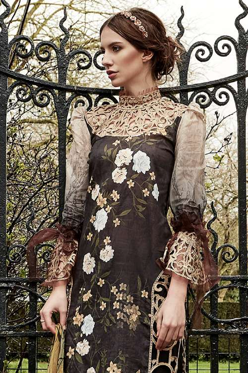 Tabassum Mughal Embroidered Lawn Unstitched 3 Piece Suit TM17L 10A