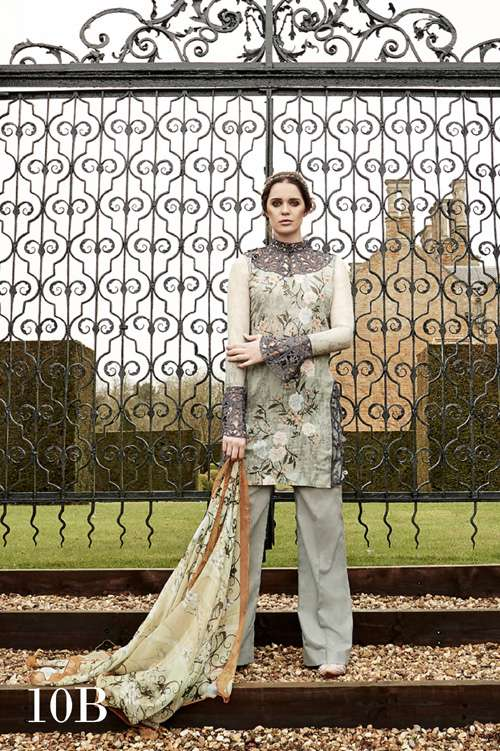 Tabassum Mughal Embroidered Lawn Unstitched 3 Piece Suit TM17L 10B