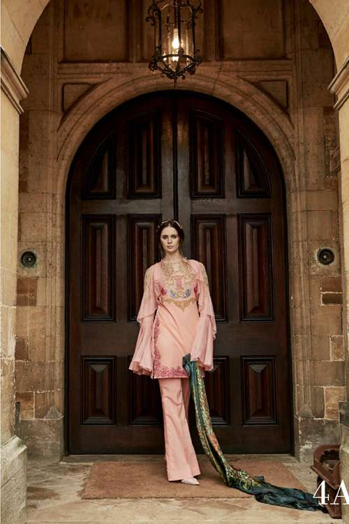 Tabassum Mughal Embroidered Lawn Unstitched 3 Piece Suit TM17L 4A