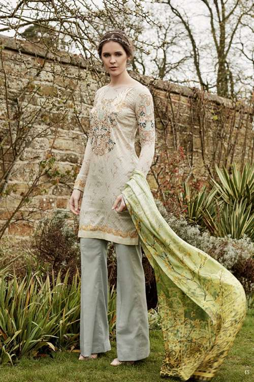 Tabassum Mughal Embroidered Lawn Unstitched 3 Piece Suit TM17L 5A