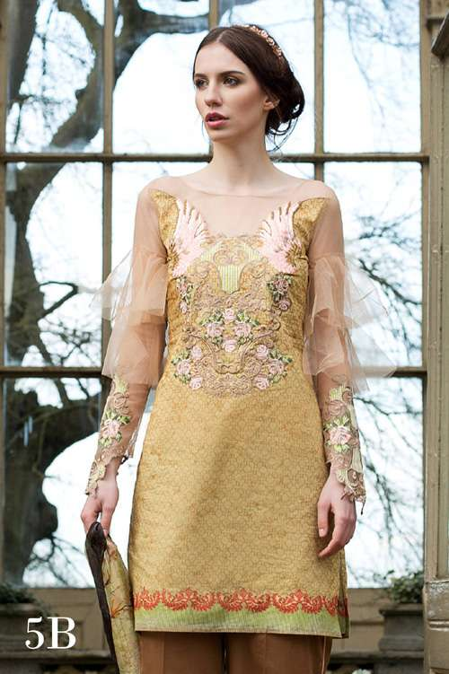 Tabassum Mughal Embroidered Lawn Unstitched 3 Piece Suit TM17L 5B