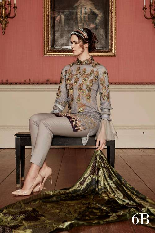 Tabassum Mughal Embroidered Lawn Unstitched 3 Piece Suit TM17L 6B