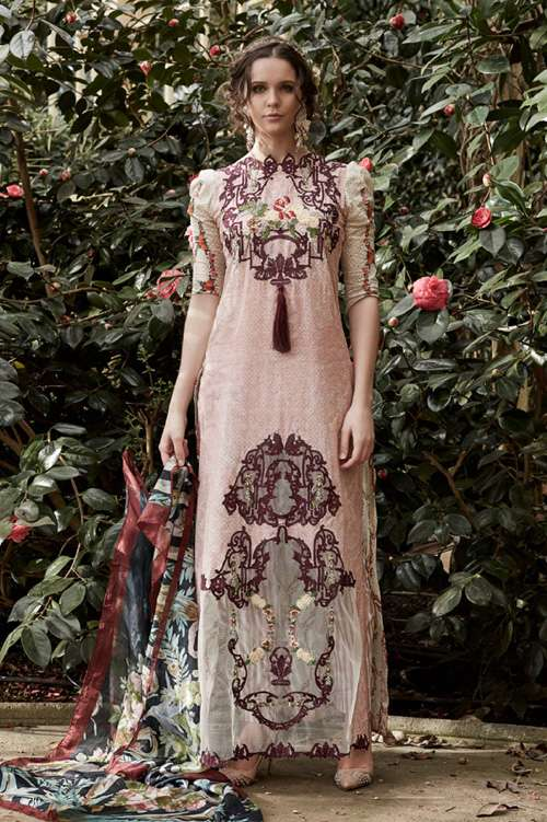 Tabassum Mughal Embroidered Lawn Unstitched 3 Piece Suit TM17L 7A