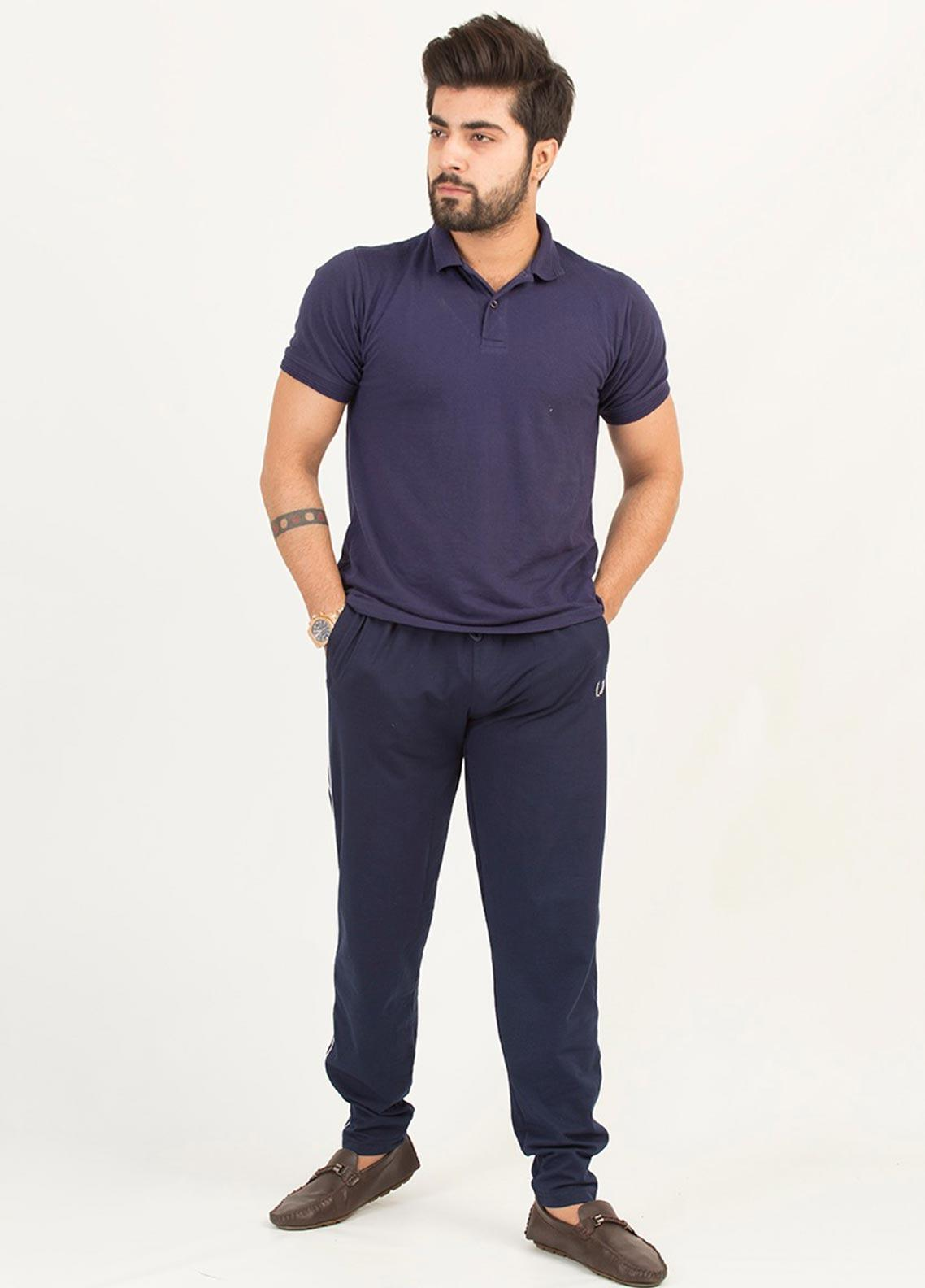 UC Clothing Lycra Casual Trousers for Men -  03 Navy