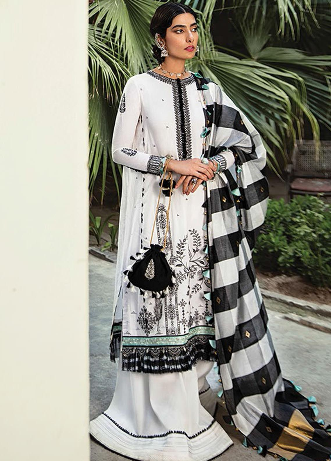Vaada by Republic Womenswear Embroidered Jacquard Unstitched 3 Piece Suit RW20V 02-A INARA - Eid Collection