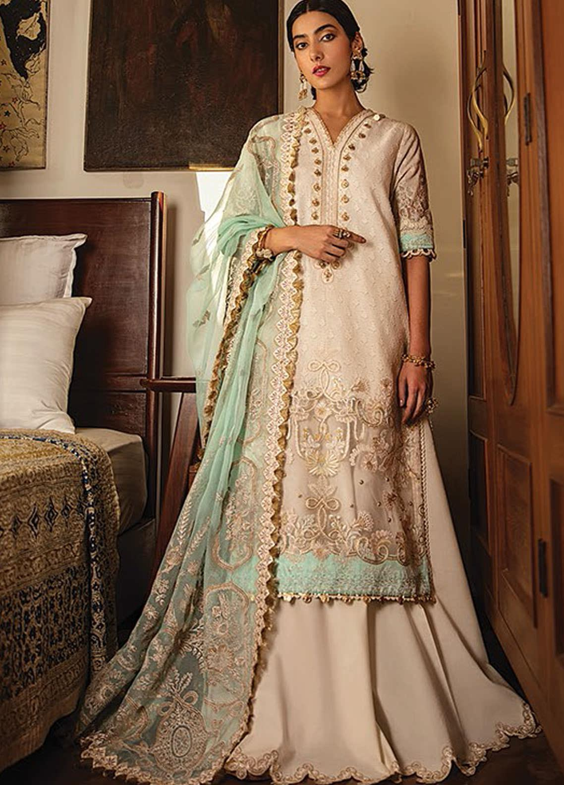 Vaada by Republic Womenswear Embroidered Jacquard Unstitched 3 Piece Suit RW20V 03-B ZAREEN - Eid Collection