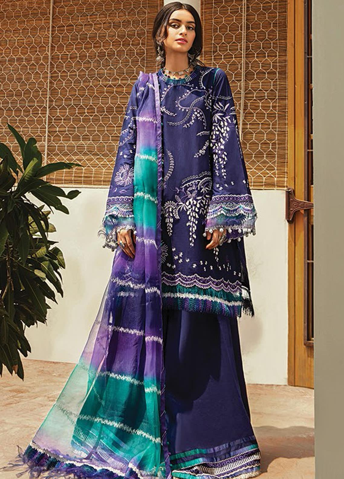 Vaada by Republic Womenswear Embroidered Lawn Unstitched 3 Piece Suit RW20V 07-A RUZGAR - Eid Collection