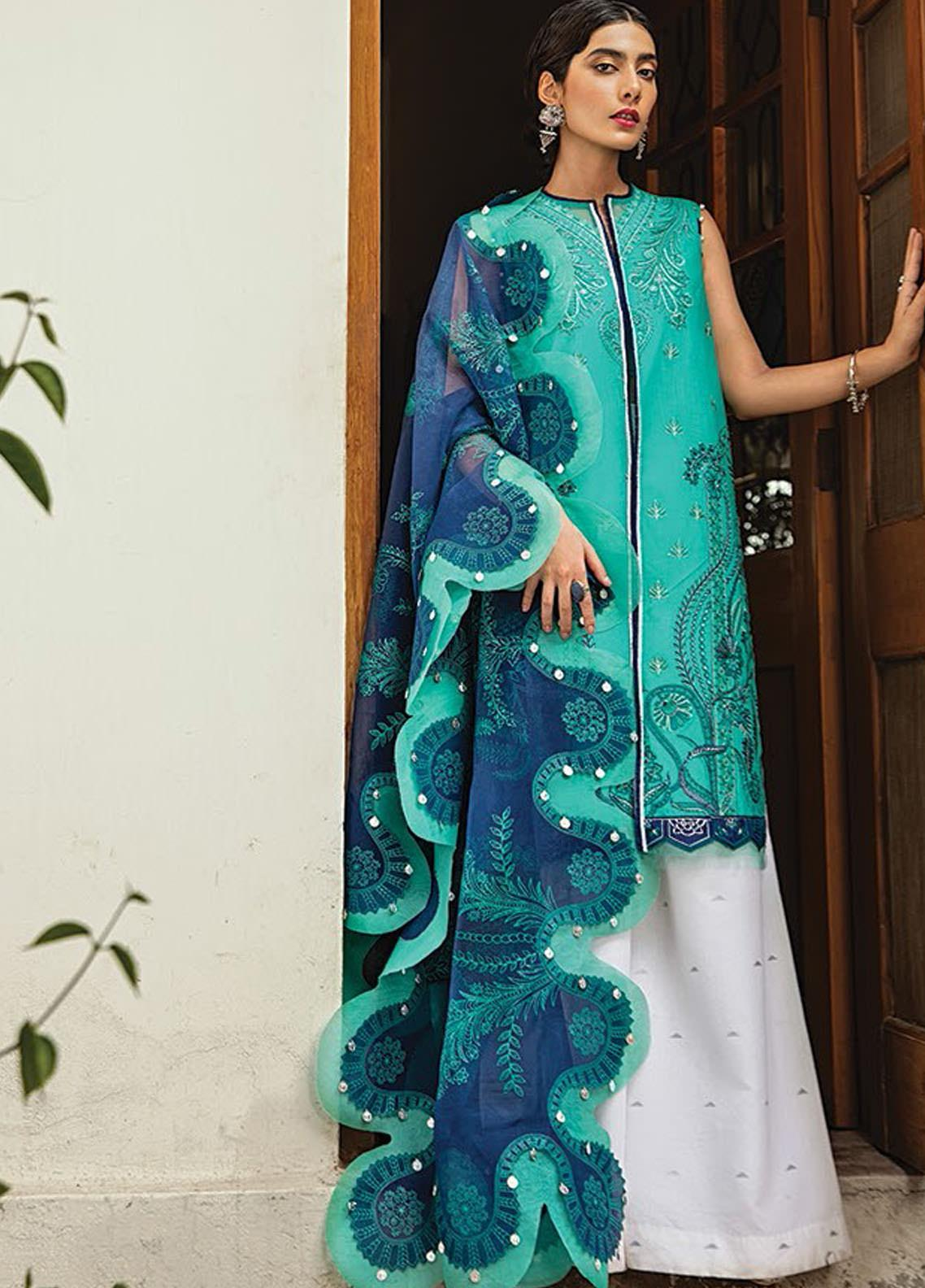 Vaada by Republic Womenswear Embroidered Lawn Unstitched 3 Piece Suit RW20V 08-B ESTERI - Eid Collection
