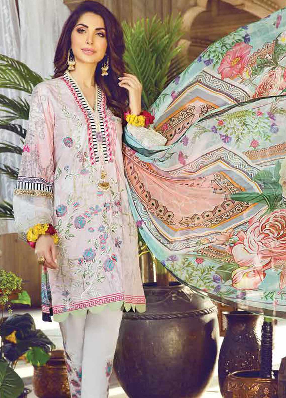 Vesttire Embroidered Lawn Unstitched 3 Piece Suit VS19F-26 BLOOMING HAVEN - Festive Collection