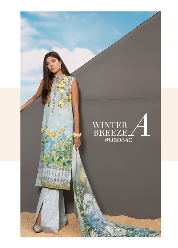 Sapphire Embroidered Viscose Unstitched 3 Piece Suit SP17W Winter Breeze A
