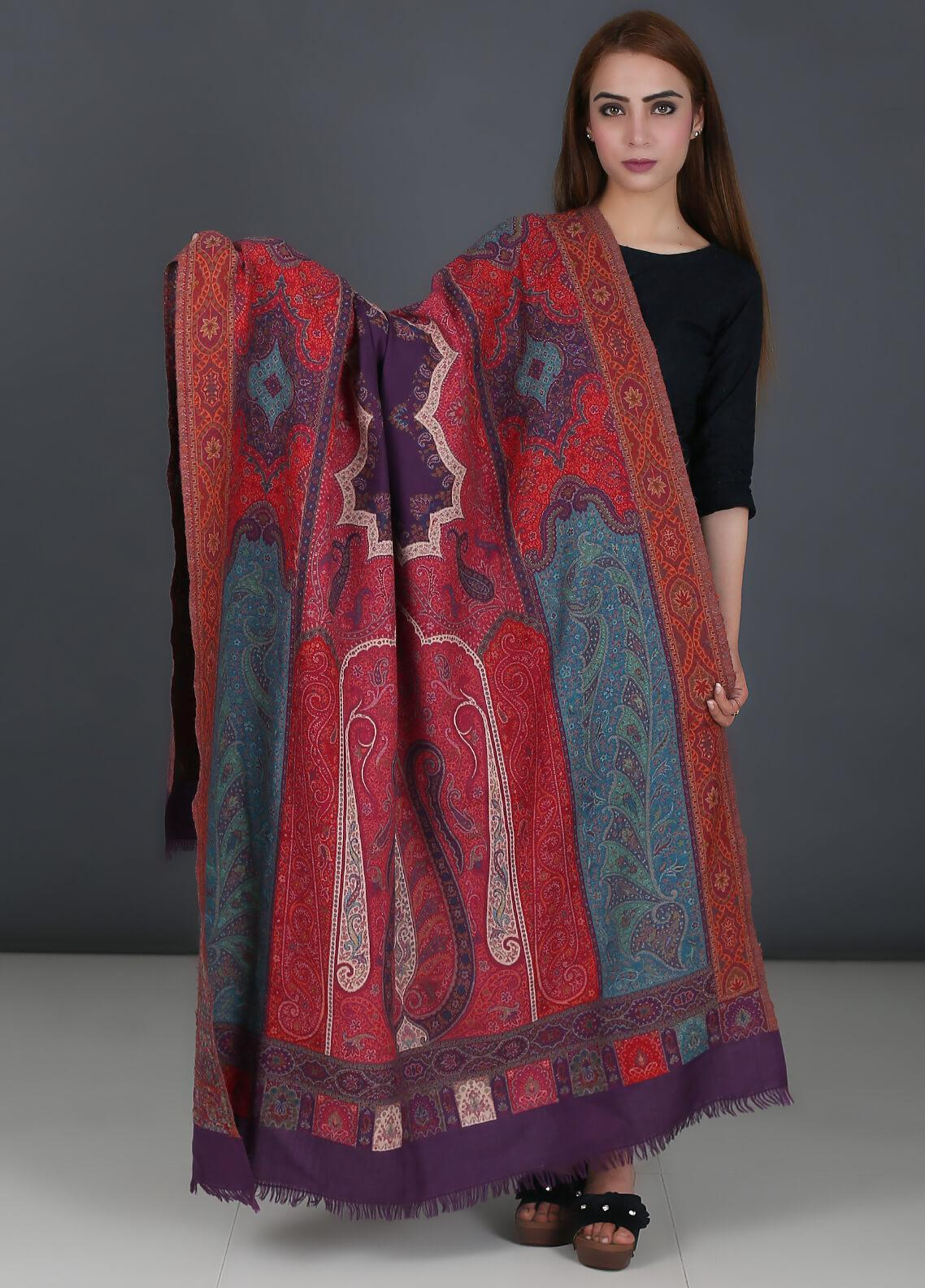 Sanaulla Exclusive Range Pure Jamawar Pashmina Shawl 722 - Winter Collection