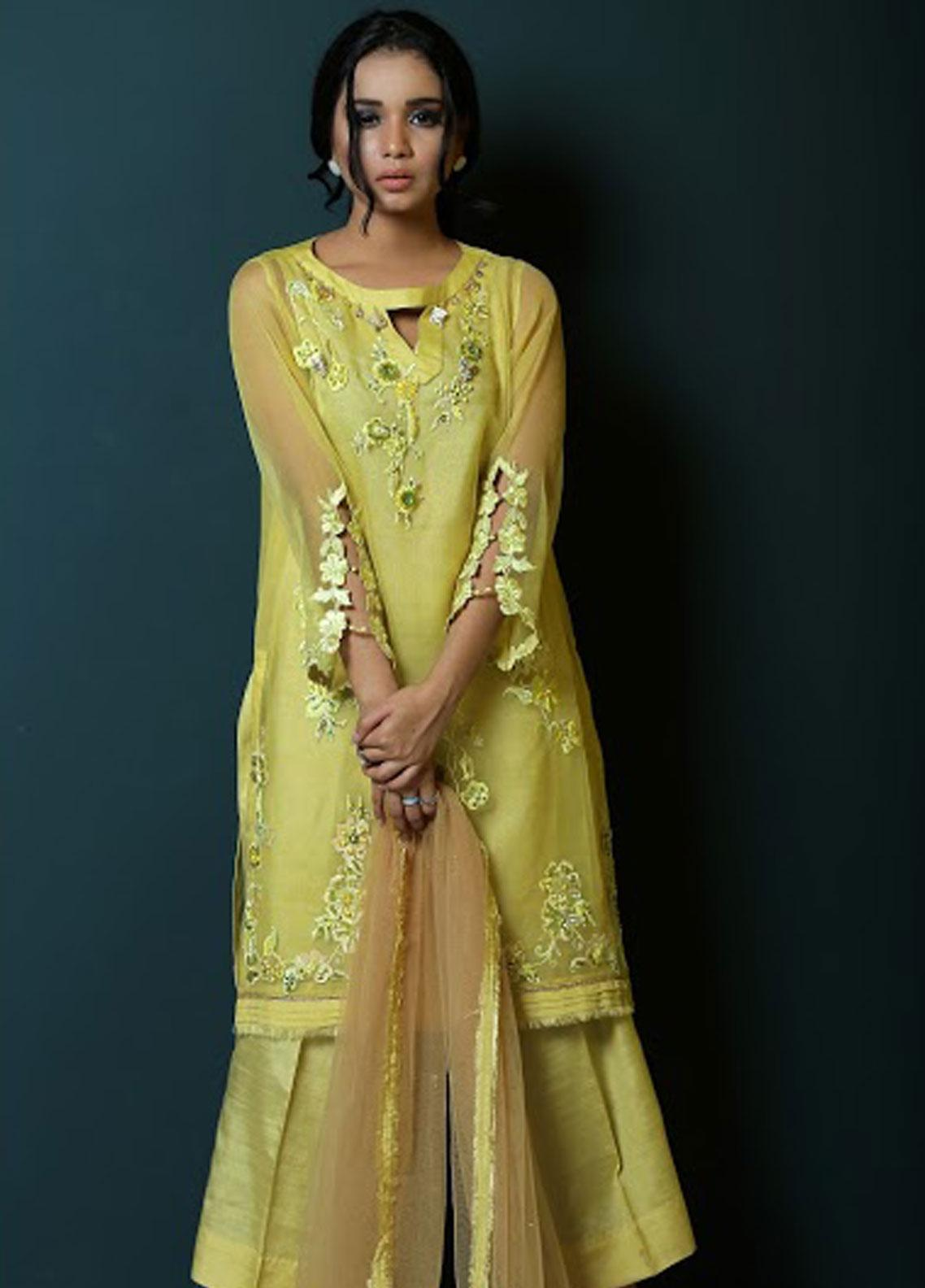 Asma Emran Embroidered Organza Stitched 3 Piece Suit EP-004 Botonical Garden