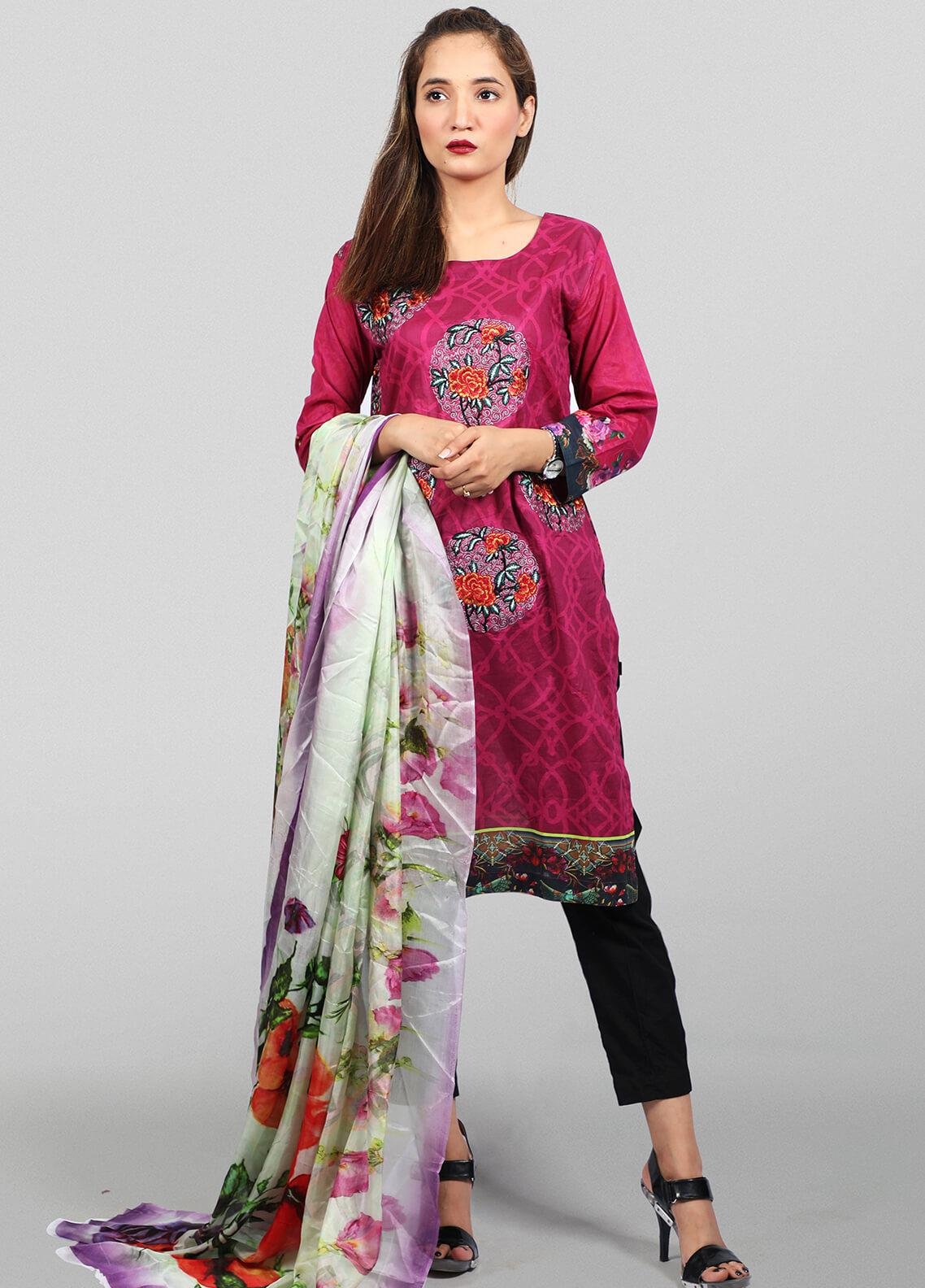 Waniya Embroidered Lawn Stitched 2 Piece Suit LEP-018