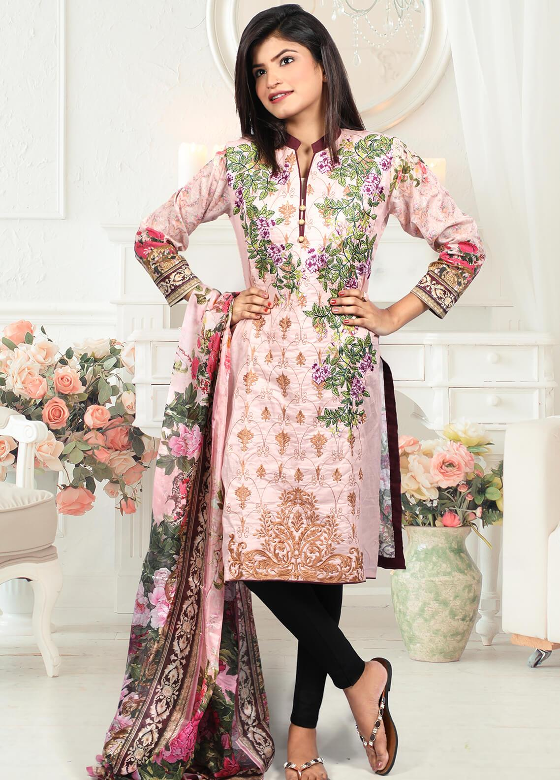 Waniya Embroidered Lawn Stitched 2 Piece Suit LEP-021