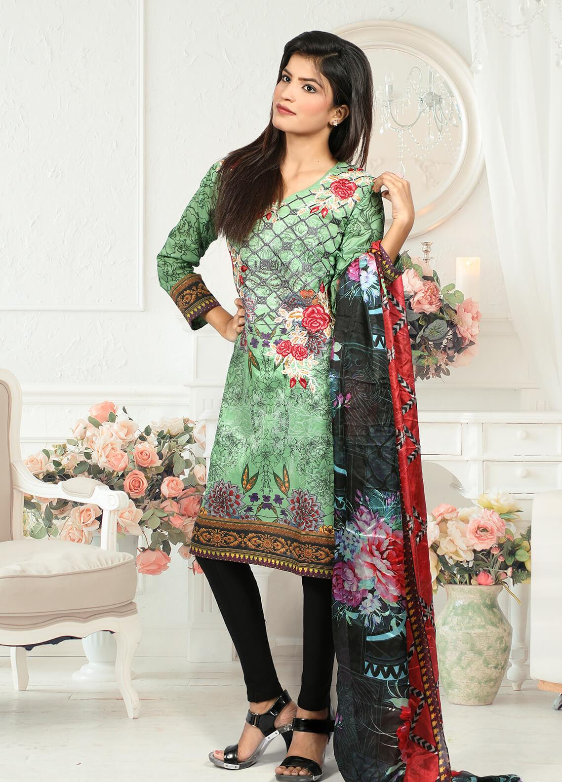 Waniya Embroidered Lawn Stitched 2 Piece Suit LEP-022