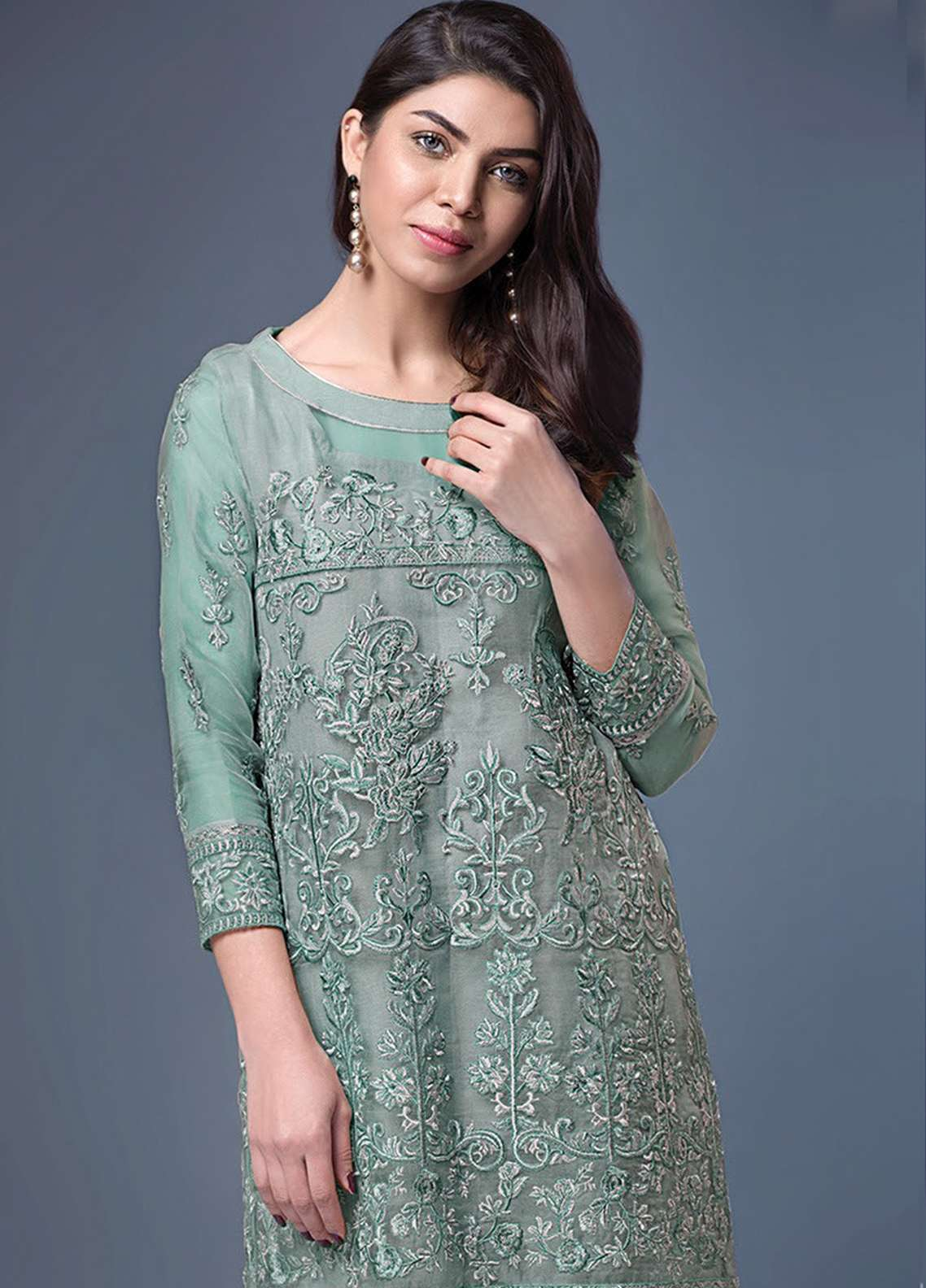 Xenia Embroidered  Stitched Kurtis XE18P 2B