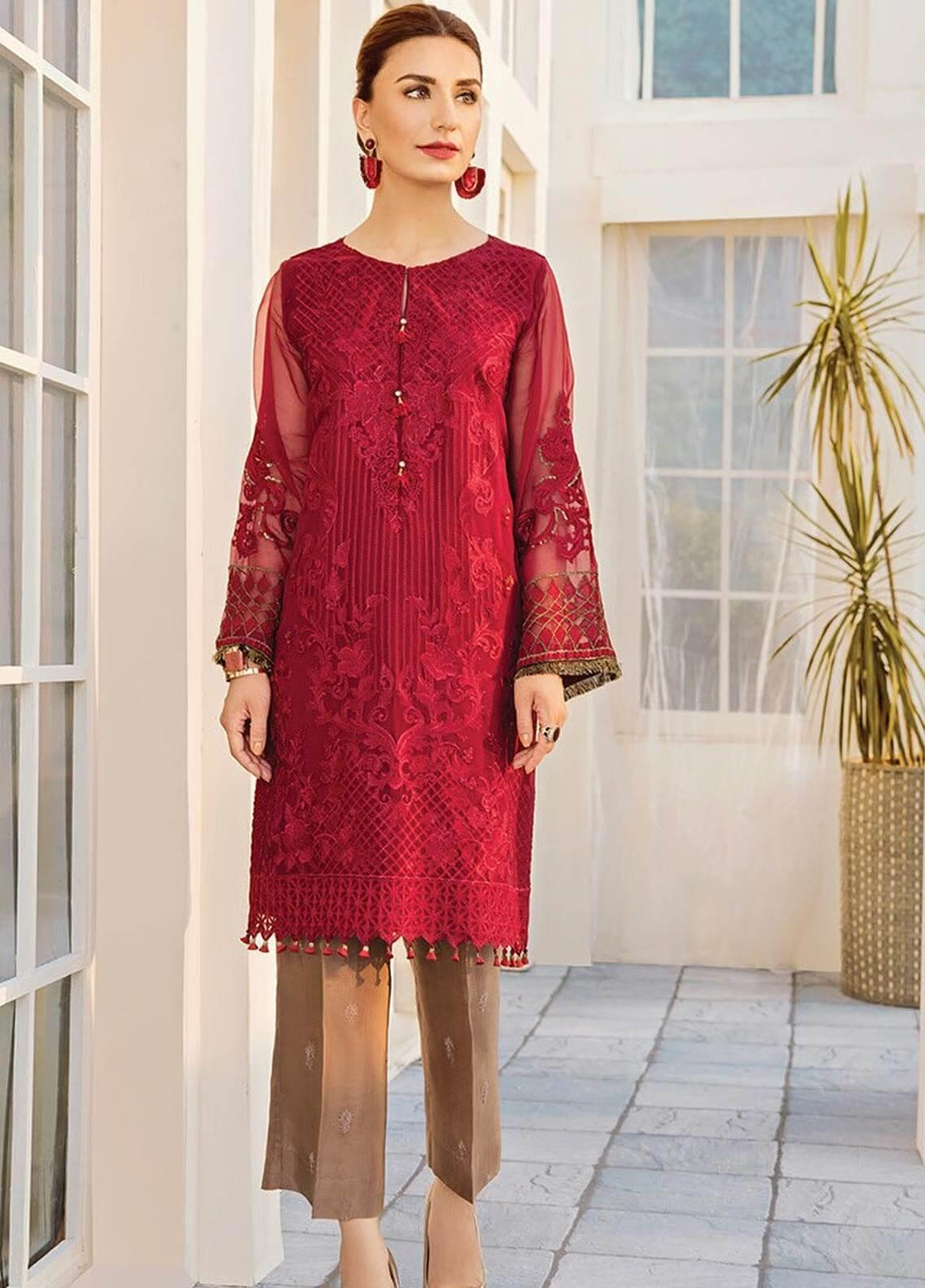 XENIA Formals Embroidered Chiffon Stitched 2 Piece Suit XE19-F2 05 AMOUR