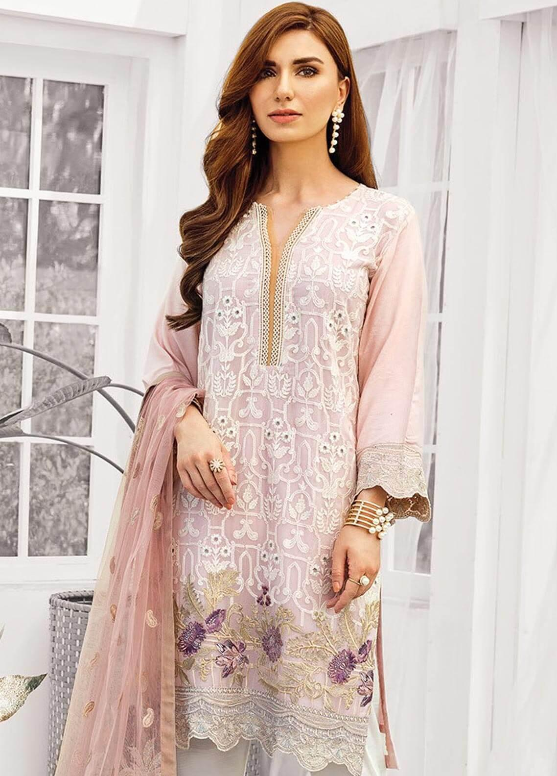 XENIA Formals Embroidered Chiffon Stitched 3 Piece Suit XE19-F2 06 ROYELLE