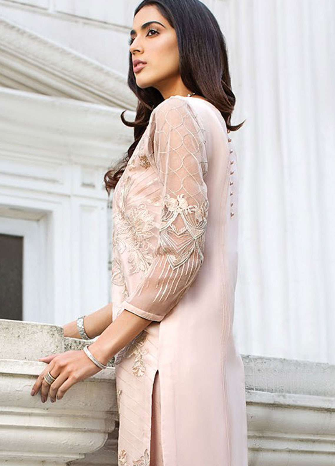 Xenia Formals Embroidered Organza Stitched 2 Piece Suit XE19-P5 04 ALL ABOUT EVE