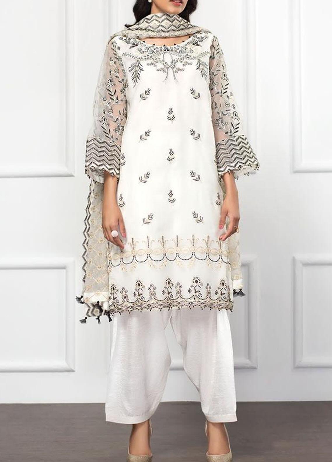 XENIA Formals Embroidered Organza Stitched 3 Piece Suit XFR-20-142 WONDER DREAM