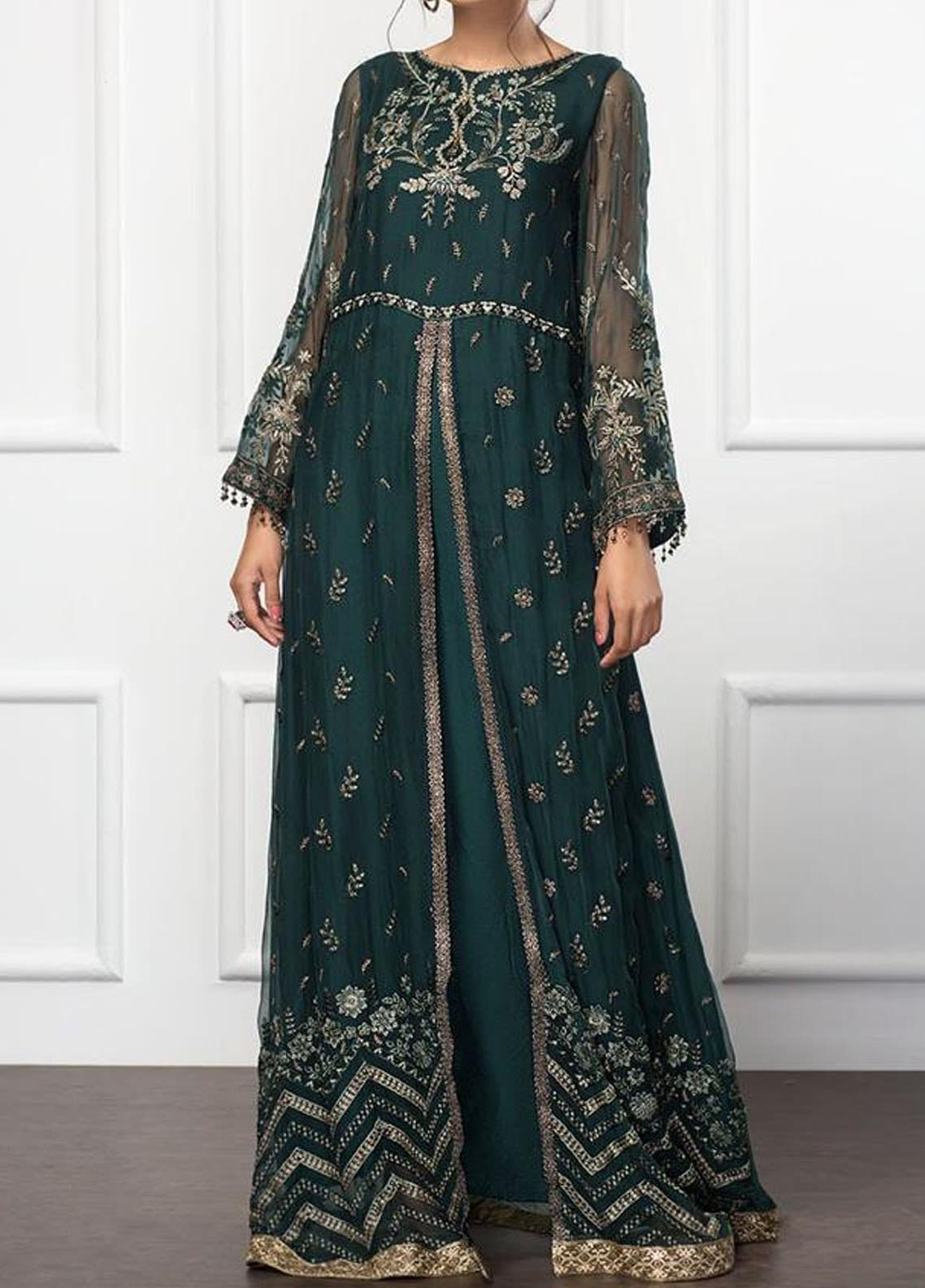 XENIA Formals Embroidered Chiffon Stitched 2 Piece Suit XFR-20-149 ARCADIA GRACE