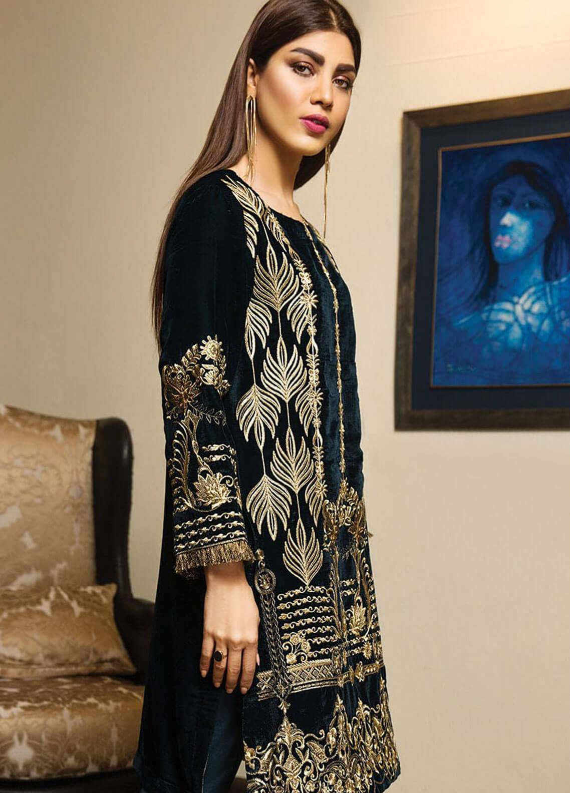 XENIA Formals Embroidered  Stitched 2 Piece Suit XE18-P3 XV03