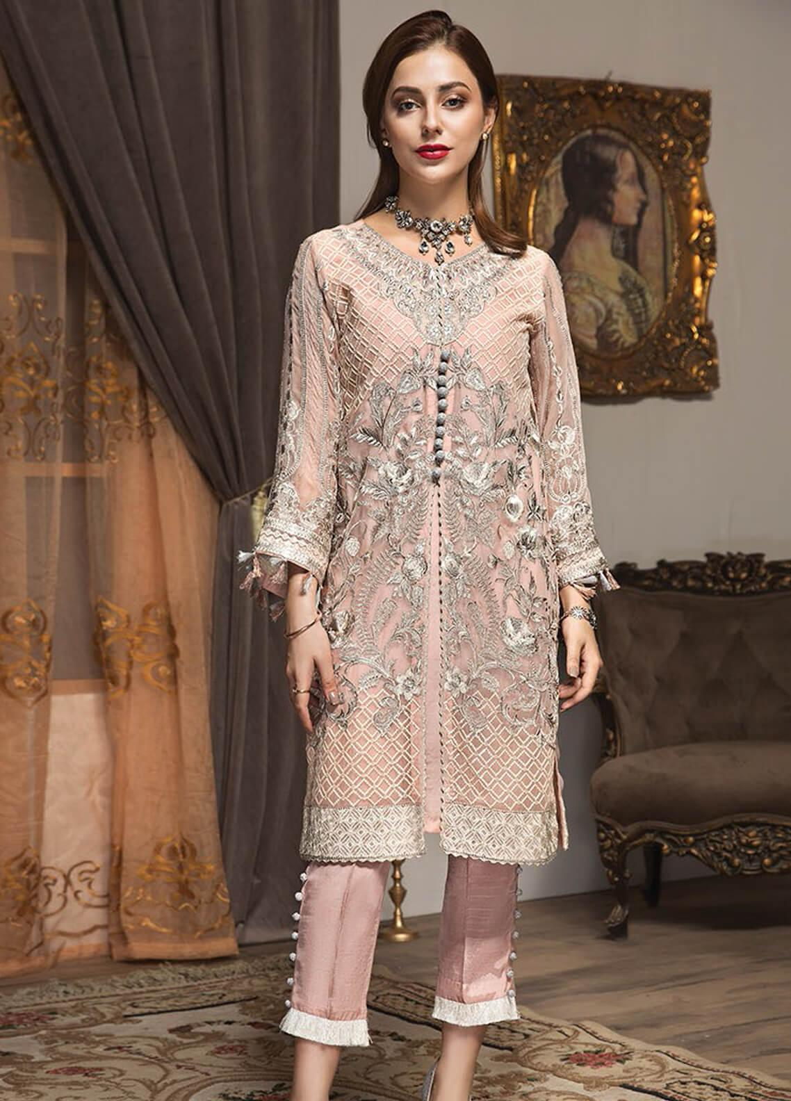 XENIA Formals Embroidered Chiffon Stitched 2 Piece Suit XE19F 05 LANA