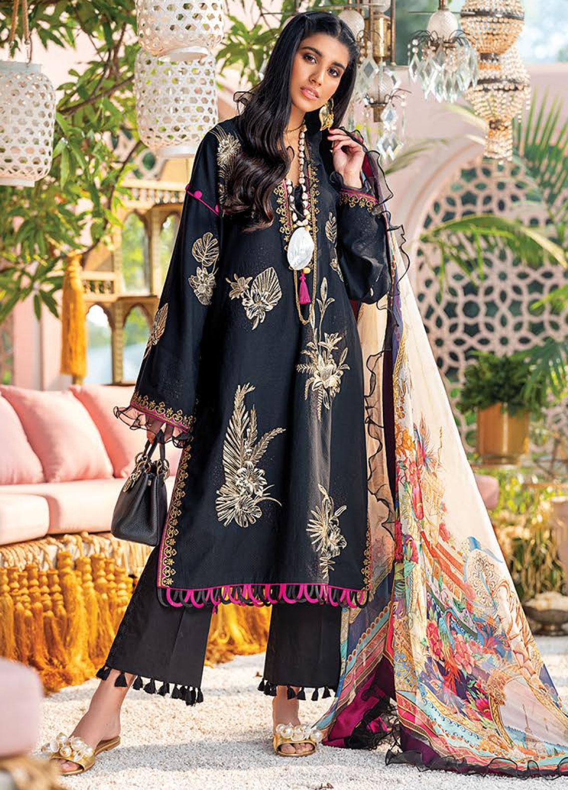 Zaha by Khadijah Shah Embroidered Jacquard Unstitched 3 Piece Suit ZKS20L 27 - Spring / Summer Collection