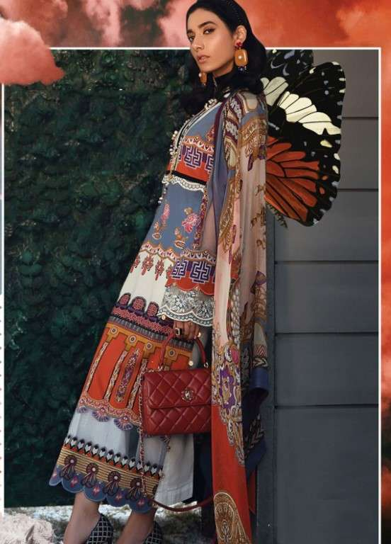 Zaha by Khadijah Shah Embroidered Lawn Unstitched 3 Piece Suit ZKS19L 15A DELPHINE - Spring / Summer Collection