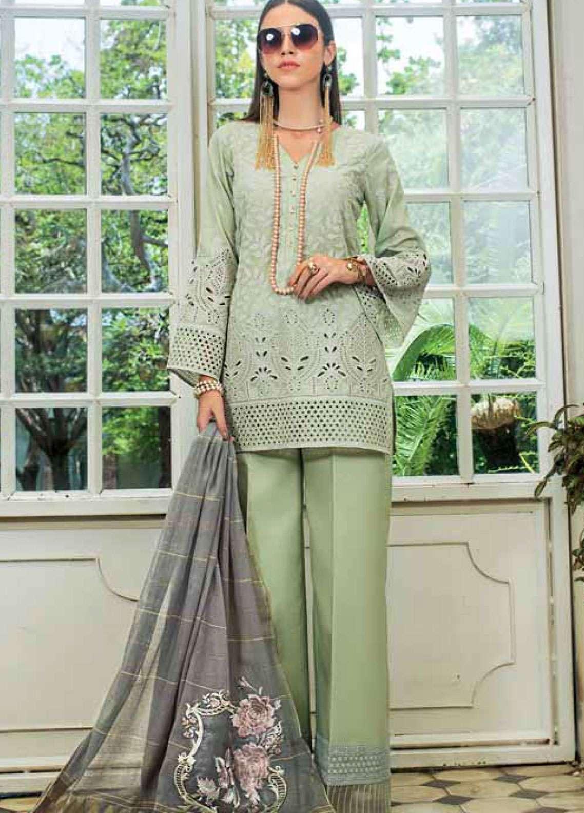 Zainab Chottani Embroidered Chikankari Unstitched 3 Piece Suit ZC19CK 3B BLUSH TALES - Luxury Collection